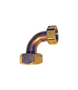 CR 80 - Reduced elbow female/female - Flat bearing
