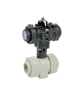 C200 - PP - Ball valve with plastic pneumatic actuator FKM gaskets