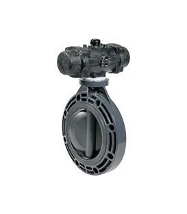 PL1 - PVC-U - Butterfly valve with pneumatic actuator EPDM seat