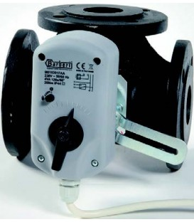 Electric actuator for flanged mixing valves