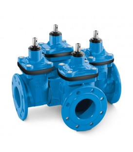 Multi-ways resilient seated gate valves