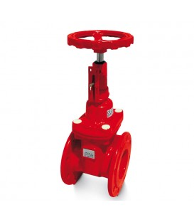 Resilient seated gate valves for fire service