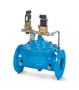 Electric controlled tank filling valves