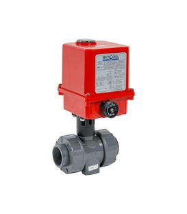 C200 - PVC-U - Ball valve with electric actuator from DN15 to DN50