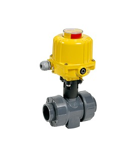 CL1 - PVC-U - Ball valve with electric actuator from DN65 to DN100