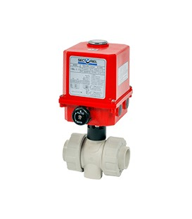C200 - PP - Ball valve with electric actuator from DN15 to DN50