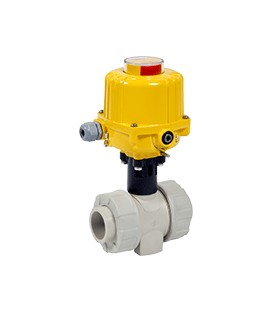 CL1 - PP - Ball valve with electric actuator from DN65 to DN100