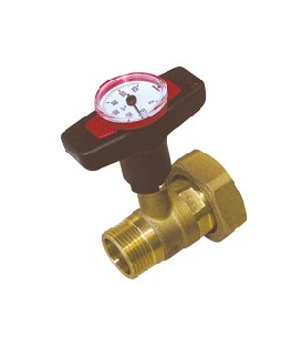 Valves with thermometer
