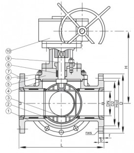 448162-with-Gear - 3-Way Ball Valve