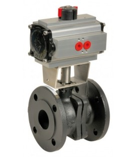 507 - Cast iron flanged ball valve double acting