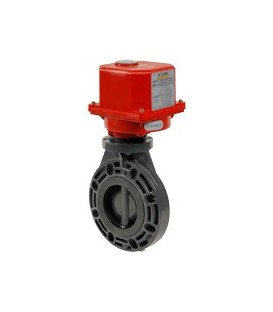 PL1 - PVC-U - Butterfly valve with electric actuator EPDM seat