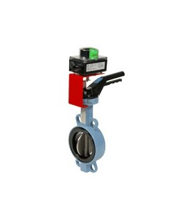 Butterfly valves with limit switch box