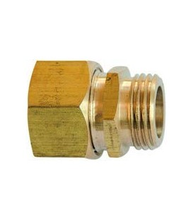 Brass compression fittings with brass olive