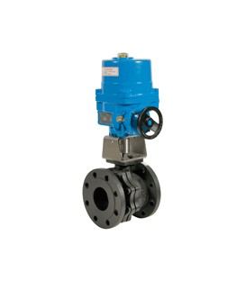 752 - Split body carbon steel flanged ball valve NA09