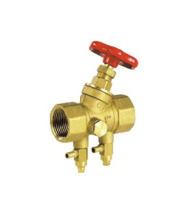 465 - Column base valve - Brass