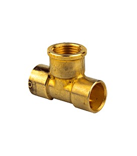 130 GC - Tee center female threaded/female copper