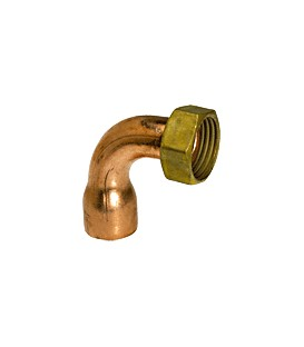 5002 GC - 2 piece elbow copper/brass - Flat bearing