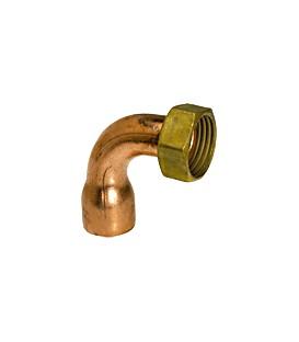 5002 GC - 2 piece elbow copper/brass - Flat bearing