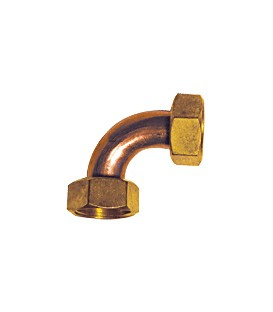CR 80 - Equal elbow female/female - Flat bearing