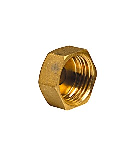 Plain cap for flat bearing