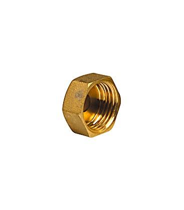 Plain cap for flat bearing