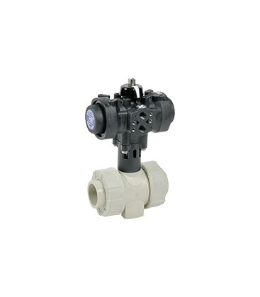 C200 - PP - Ball valve with plastic pneumatic actuator EPDM gaskets