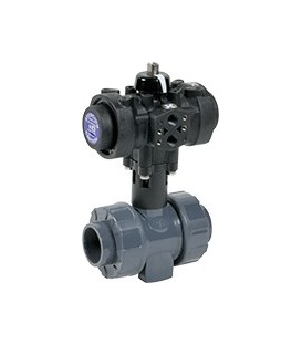 C200 - PVC-U - Ball valve with plastic pneumatic actuator EPDM gaskets