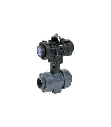 C200 - PVC-U - Ball valve with plastic pneumatic actuator FKM gaskets
