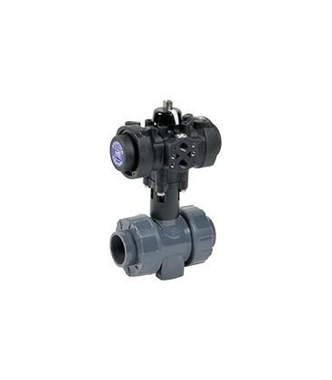 C200 - PVC-U - Ball valve with plastic pneumatic actuator FKM gaskets