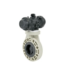 PL1 - PP - Butterfly valve with pneumatic actuator FKM seat