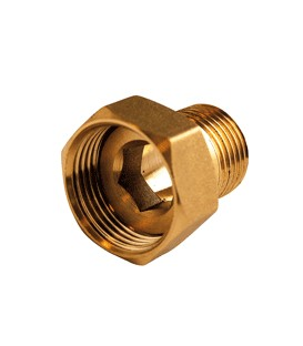 2 piece fitting female/male - Flat bearing