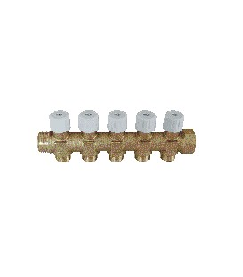 Sanitary manifolds with built-in valves white valve