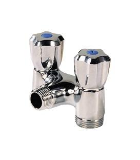 Washing machine valve - Vertical double tap