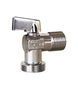 Washing machine ball valve