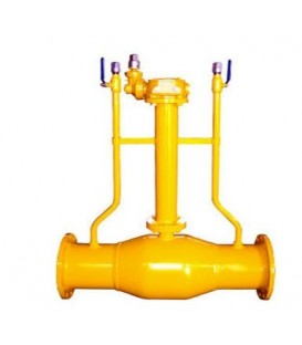 Flange gas exhaust underground fully welded ball valve