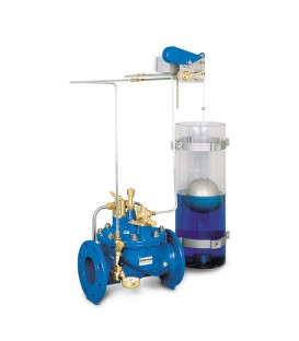 Pilot controlled tank filling valves