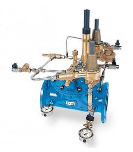 Quick acting pressure relief valves, surge anticipating