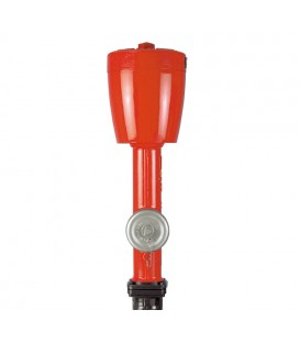 Pillar fire hydrants with hood (German standard)