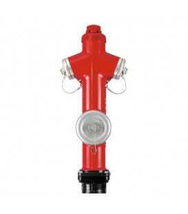 Pillar fire hydrants with apparent outlets (German standard)