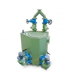 Awalift sewage pumping system