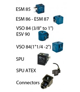 Spare coils & connectors for CEME solenoid valves