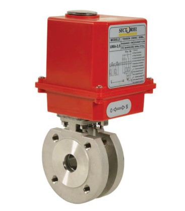 771 XS - Stainless steel flanged ball valve wafer type UMA3,5