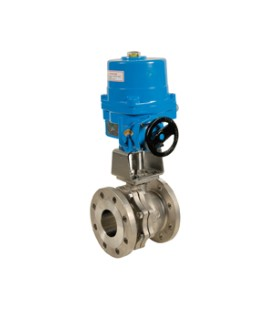 757 - Split-body stainless steel flanged ball valve NA09