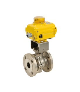 753 - Split body stainless steel flanged ball valve SA05