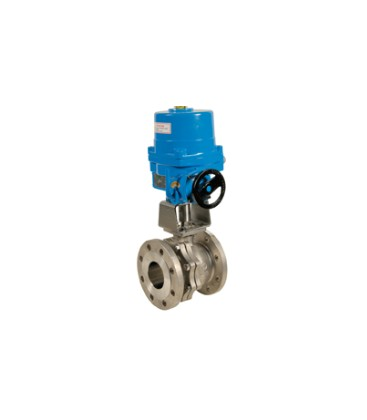 753 - Split body stainless steel flanged ball valve NA09