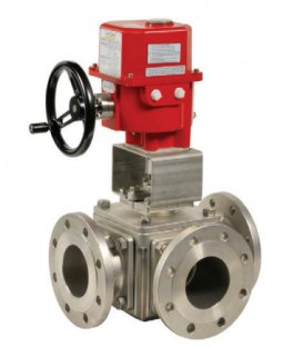 785 L - 3 way stainless steel flanged ball valve UVC15