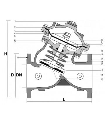 970002_970001 - Hydraulic Diaphragm Control Valve