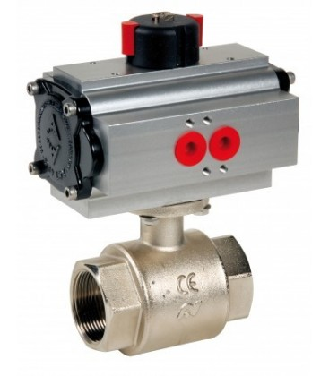 502 - Brass ball valve double acting