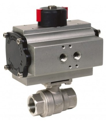715 XS - 2 piece stainless steel ball valve double acting