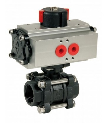 736 XS - 3 piece carbon steel ball valve double acting